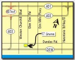 Area map to personal trainer mississauga
