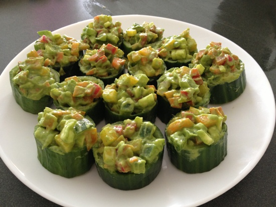 Cucumber Salad Cups